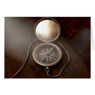 Cartão Compasso ornamentado do bolso