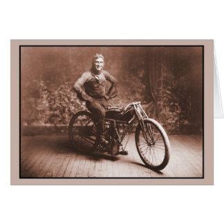 Cartão Competência da motocicleta: Vencedor 100 MI. raça,