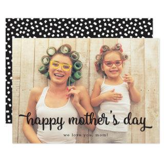 Cartão completo do dia das mães da foto dos