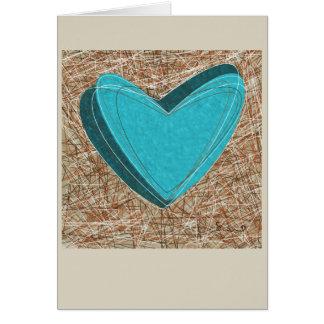 Cartão complicado dos corações. Original!