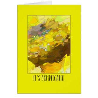 Cartão Complicou o amarelo de agitação do caos