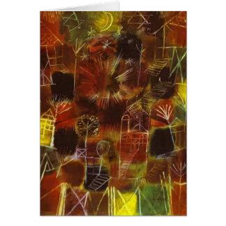 Cartão Composição cósmica de Paul Klee-