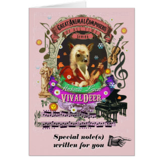 Cartão Compositor animal bonito de Vivaldeer da paródia