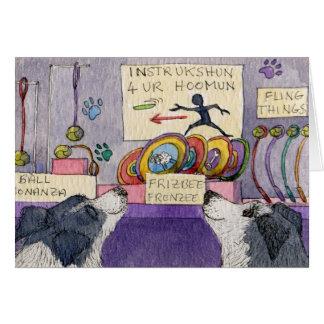 Cartão Compra da janela dos cães de border collie