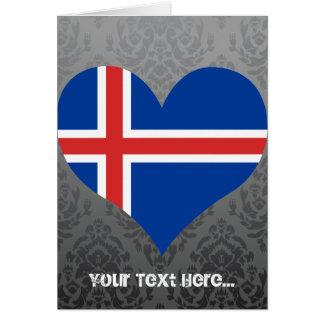 Cartão Compre a bandeira de Islândia