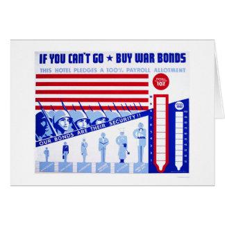 Cartão Compre as ligações de guerra WWII WPA 1942