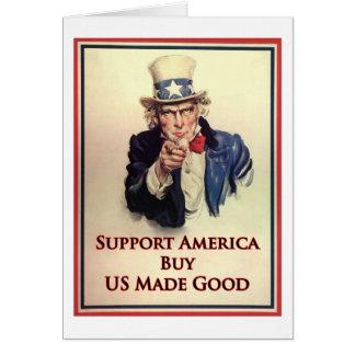 Cartão Compre o poster do tio Sam dos bens dos E.U.