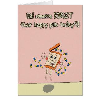 Cartão Comprimidos felizes