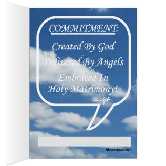 Cartão Compromisso do abraço no matrimônio santamente
