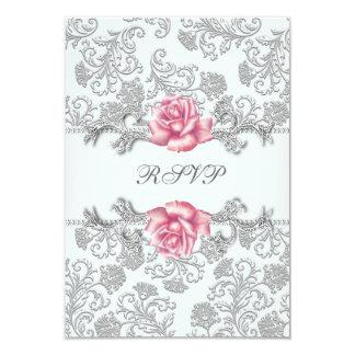 Cartão Comunhão RSVP das meninas do rosa do rosa do
