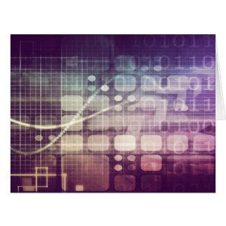 Cartão Conceito abstrato futurista na tecnologia