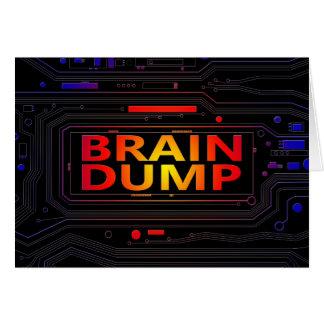Cartão Conceito da descarga de cérebro