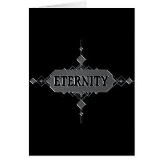 Cartão Conceito da eternidade