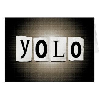 Cartão Conceito de YOLO