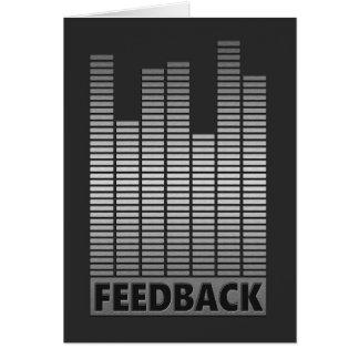 Cartão Conceito do feedback