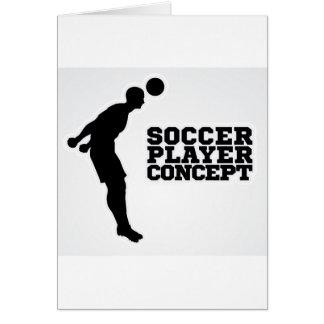 Cartão Conceito do jogador de futebol da silhueta