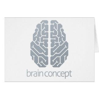Cartão Conceito superior do cérebro