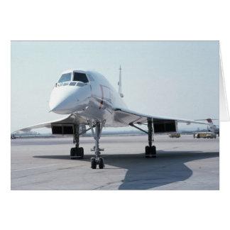 Cartão Concorde supersónico
