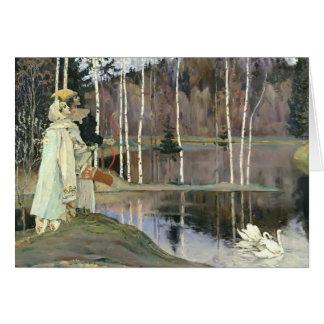 Cartão Concórdia da harmonia de Mikhail Nesterov-