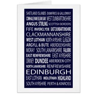 Cartão Condados escoceses