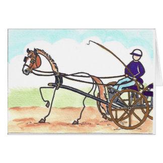 Cartão Condução da carruagem do CAVALO de VARA