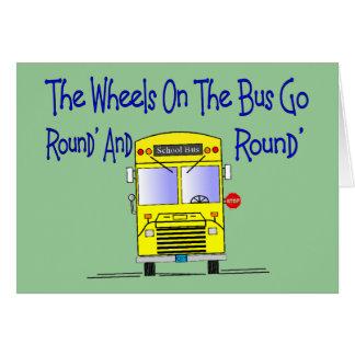 """Cartão Condutor de autocarro """"as rodas no ônibus """""""