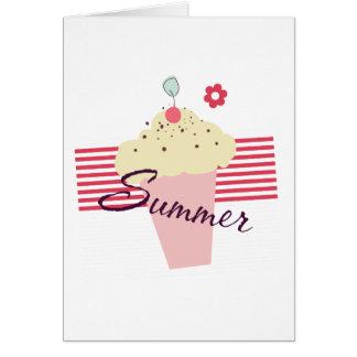Cartão Cone do sorvete do verão