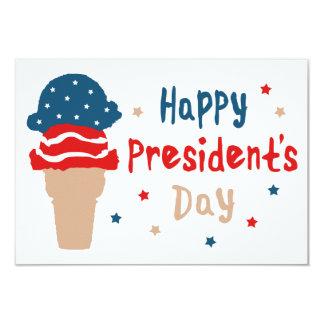 Cartão Cone patriótico do sorvete do Dia do presidente