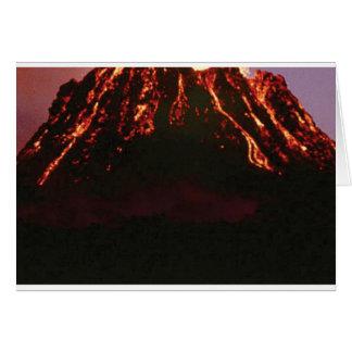 Cartão cone vulcânico nivelado