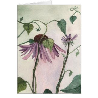 Cartão Coneflower roxo Notecard