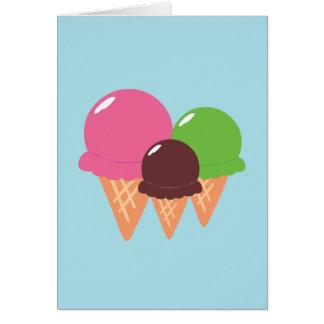 Cartão Cones do sorvete