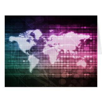 Cartão Conexão de rede global e sistema integrado