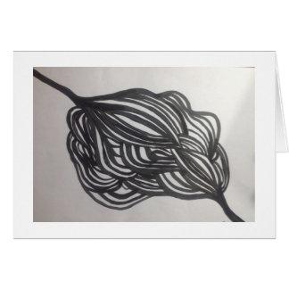 Cartão Conexão preto e branco