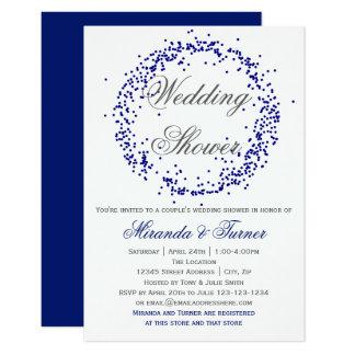Cartão Confetes azuis - o chá de casamento do casal 3X5