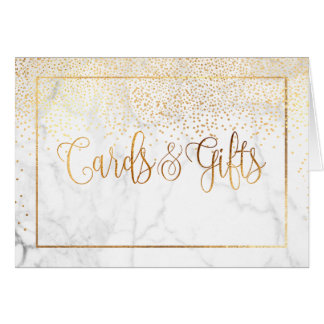 Cartão Confetes/cartões do ouro do falso de