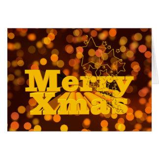 Cartão Confetes do Feliz Natal, confetes alegres do Xmas