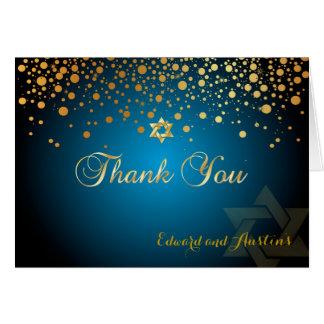Cartão Confetes do ouro do falso de PixDezines, obrigado