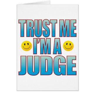 Cartão Confie-me a vida B do juiz