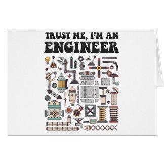 Cartão Confie-me, mim são um engenheiro