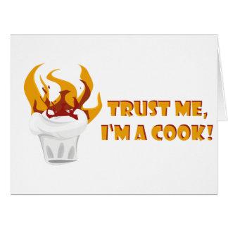 Cartão Confie que eu mim é um cozinheiro!