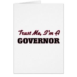 Cartão Confie que eu mim é um governador