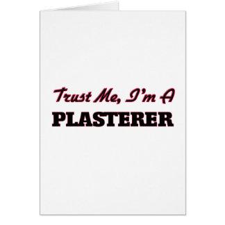 Cartão Confie que eu mim é um Plasterer