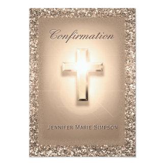 Cartão Confirmação com cruz de incandescência