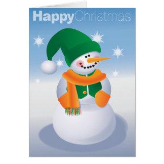 Cartão Confortavelmente boneco de neve