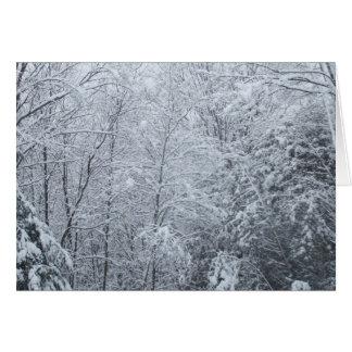 Cartão congelado do Árvore-Vazio