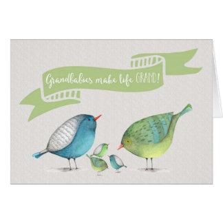 Cartão Congrats em Objectivas triplas-Grandbabies faz a