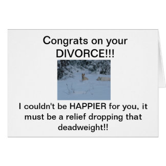 Cartão Congrats em seu DIVÓRCIO!