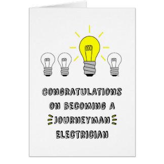 Cartão Congrats em transformar-se um eletricista do