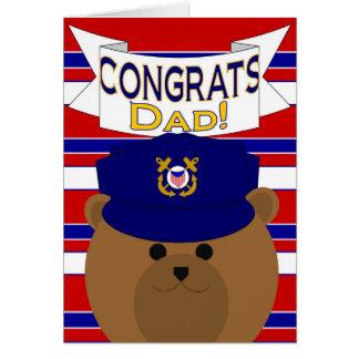 Cartão Congrats - guarda costeira - pai/pai