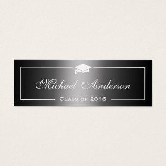 Cartão conhecido da graduação - inclinação